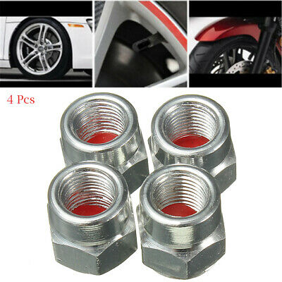 4Pcs Aluminum Piston Tire//Rim Valve//Wheel Air Port Dust Cover Stem Caps Silver