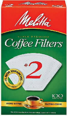 MELITTA 100-Pack #2 White Cone Coffee Filters 622712