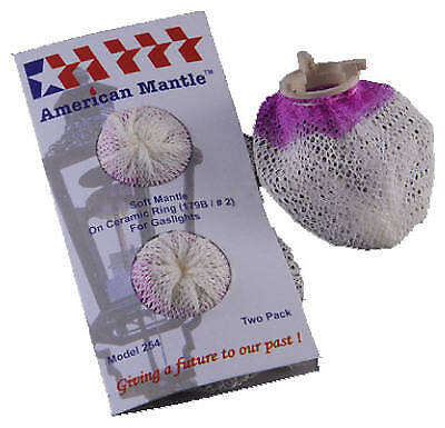 AMERICAN MANTLE COMPANY INC 2-Pack Soft Inverted Gaslight Mantle 254
