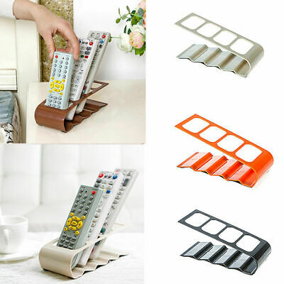 TV 4 STEP REMOTE CONTROL HOLDER STORAGE TIDY STAND Plastic ORGANISER RACK NEW