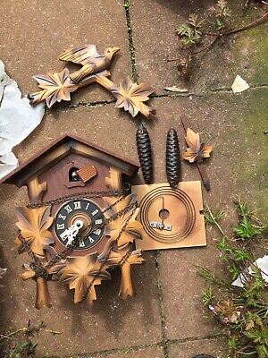 Cockoo clock, made in Germany with weight pendulum  Parts Repair