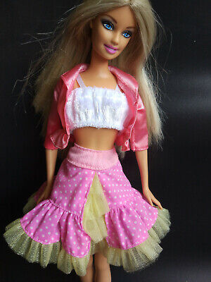 Cute 3 in 1 white&Pink Dress&Clothes for 1/6(11.5inch) BJD Doll