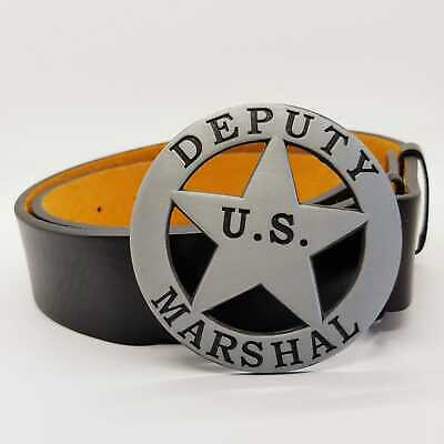 Sheriff Deputy Marshall Belt Buckle US American Western Cowboy Wild West UK