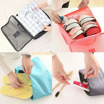 6Pcs Packing Travel Pouch Luggage Space Organiser Clothes Suitcase Storage Bag