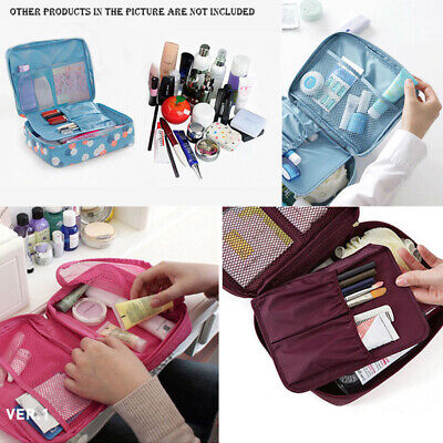 Travel Cosmetic Storage MakeUp Bag Folding Hanging Organizer Pouch Toiletry Tote