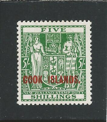 COOK IS 1936-44 5s GREEN MM SG 119 CAT £50