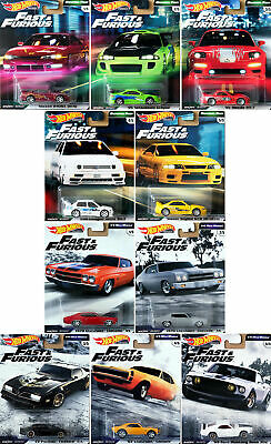 Fast & Furious Premium Set Original Fast + 1/4 Mile Muscle 10 Modelle 1:64 Hot W