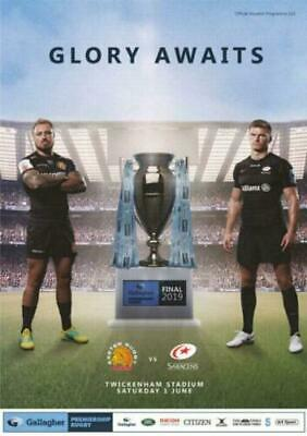 EXETER CHIEFS v SARACENS GALLAGHER PREMIERSHIP FINAL RUGBY PROGRAMME 2019
