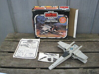 1978 Star Wars Battle Damaged X-Wing Fighter With Original Box A0579