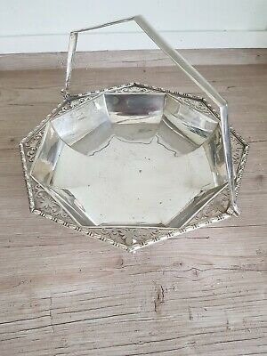 Elegant Electro Plated Serving /Bread Basket With Pierced Border And Hooved Feet