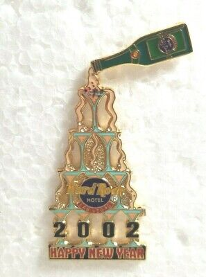 Hard Rock Hotel Pin Las Vegas Happy New Year 2002 Champagne Glass Tower