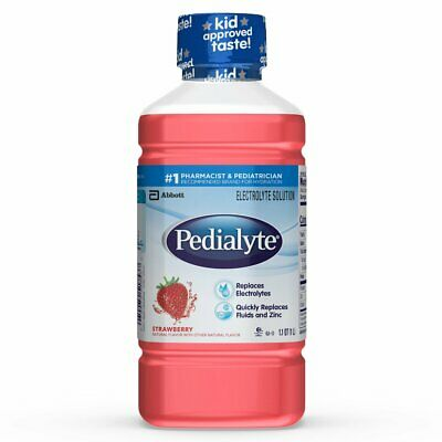 Pedialyte Oral Electrolyte Maintenance Solution Strawberry 33.8 oz (Pack of 24)