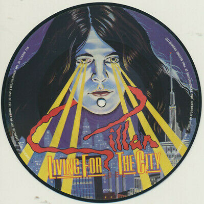 "Gillan ‎– Living For The City. 7"" Pic Disc. Mint."