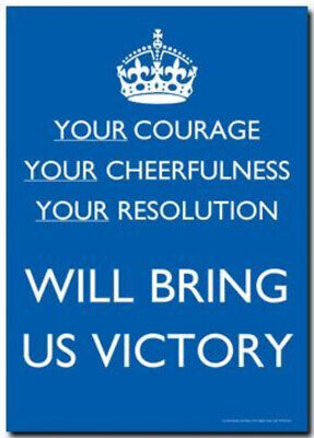 Your courage...WWII print/poster on 230gsm photo paper choose size