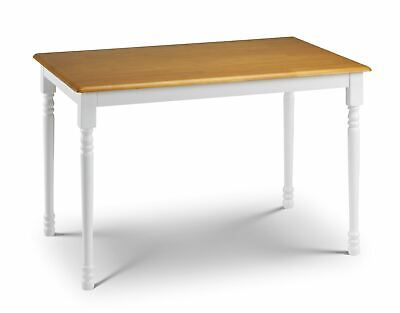 Julian Bowen Oslo Dining Table Only White and Oak Finish Rectangle Solid Wood