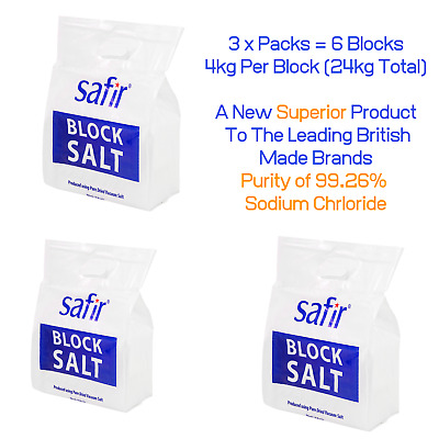 Block Salt Water Softener | Harveys Twintec Kinetico 3 Pack Salt Blocks By Safir