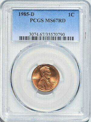 1985-D 1C Lincoln Cent Memorial Reverse Denver PCGS MS67RD Red Gem Uncirculated