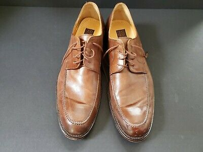 8313fe9df7abe MENS CUOIO MERCANTI Fiorentini Brown Leather Oxford Dress Shoes Size ...