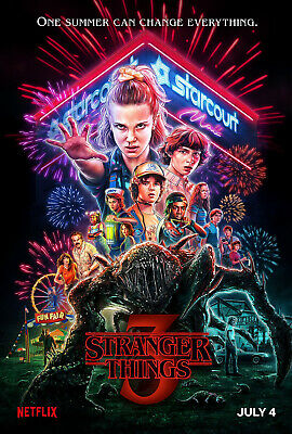 """Stranger Things Poster 2019 Movie TV Series size 11x17"""" 16x24"""" 24x36"""""""