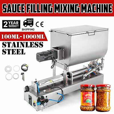 100-1000ml Liquid Paste Filling Mixing Machine Chili Sauce Pneumatic 304T GOOD