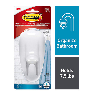 Command™ Large Bathroom Hook with Water-Resistant Strips, 17600B-ES