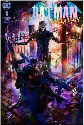 Batman Who Laughs #1 Clayton Crain Foil Trade Variant Dc Comics 750 Print Run