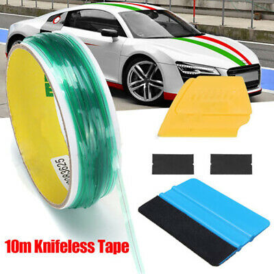 10M Knifeless Tape + Squeegee For Car Vinyl Wrapping Film Cutting Line Tools New