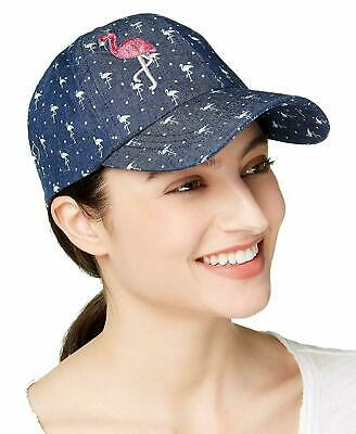 2f2f68be9 AUGUST HATS FLAMINGO Denim Baseball Cap ONE Size NEW with tag ...