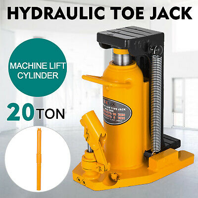 20 Ton Hydraulic Toe Jack Machine Lift Cylinder Warranty Welded Steel Tool