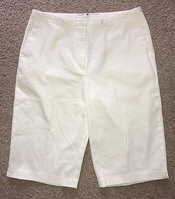 Tommy Hilfiger Women's Capris White Cropped Stretch Casual Pants - Size 8