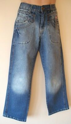 Mens Jeans Size 30S Straight Leg 30L New Boys Blue Stonewashed Cotton Denim BNWT