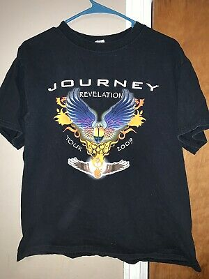 b6be84130 2009 JOURNEY REVELATION Tour Rock Music Black Small T-shirt - $3.99 ...
