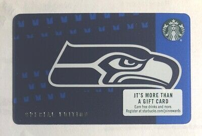 NEW Starbucks Special Edition NFL SEATTLE SEAHAWKS 2018 Card
