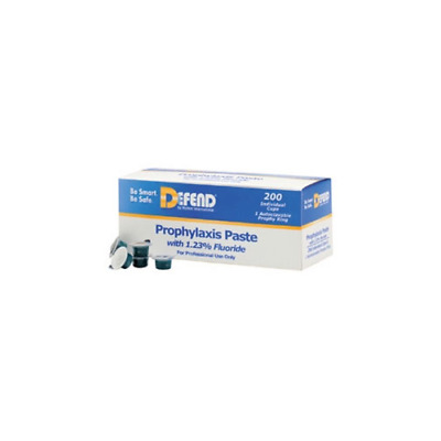 Mydent PP1600 Defend Prophy Paste Cups with Fluoride Medium Grit Cherry 200/Bx
