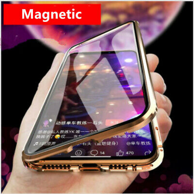 360° Luxury Magnetic Adsorption Slim Shockproof Clear Back Case Cover For iPhone