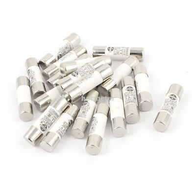 H● 20 Pieces RO15 ( RT18 RT14 ) Ceramic Cylindrical Tube Fuse 4A 380V.