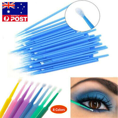 500Pc Micro Brush Eyelash Tool  Disposable Applicators Extensions Makeup Women