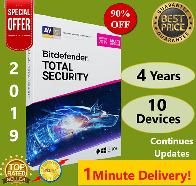 Bitdefender Total Security 2019 | 10 Device - 4 Years | Download | FAST DELIVERY