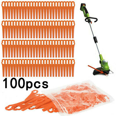 100Pcs Plastic Cutter Replacement For Grass Trimmer Strimmer Mower Accessories
