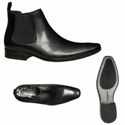 aeacbe6a97126 MENS JULIUS MARLOW Massive Work Leather Black Men's Slip On Zip ...