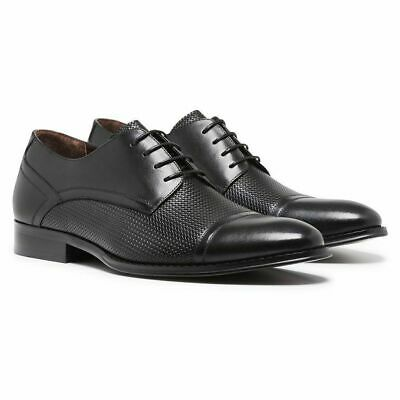 Mens Julius Marlow Focus Men's Black Leather Lace Up Work Formal Dress Shoes