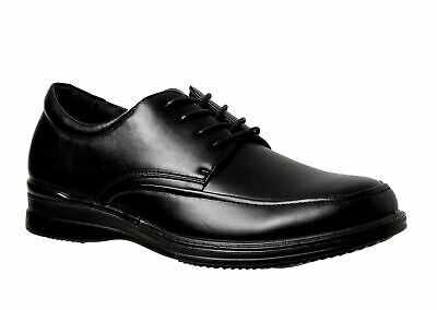 Mens Grosby Beckett Black Dress Work Casual Formal Men's Lace Up New Shoes