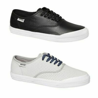 Mens Volley O.c Perforated Leather Volleys Sneakers Casual Black Grey Shoes