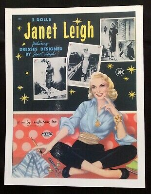 Janet Leigh Papier Puppe, Repro Of 1958 BK