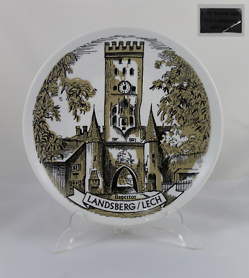 Decorative Plate Porcelain Landsberg / Lech Bavarian (Bayertor) 19cm- Dated 1977