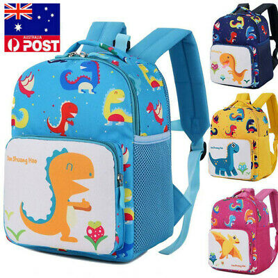 AU Girl Backpacks Toddler Kids Dinosaur Safety Harness Strap Bag with Reins AS