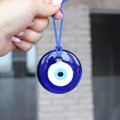 US Turkish Blue Evil Eye Amulet Car Home Office Wall Hanging Decor Protection