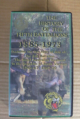 The History Of The Fifth Battalions 1885-1973 Featuring 2 Tours Vietnam Vhs