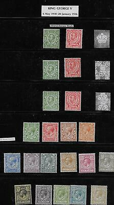 GREAT BRITAIN -  GEORGE V 1911-1934 Mint sets on a stockpage - 7673