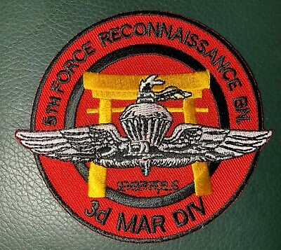 """3RD MARINE DIV """"HOME OF THE BRAVE"""" HOOK /& LOOP PATCH VIETNAM USMC FIRST BN."""